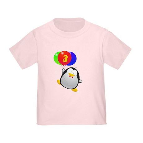 Penguin 3rd Birthday Toddler T-Shirt