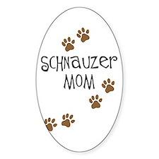 Paw Prints Schnauzer Mom Oval Decal