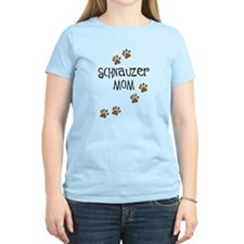 Paw Prints Schnauzer Mom T-Shirt