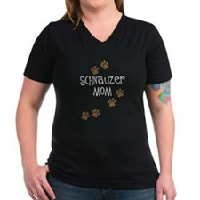 Paw Prints Schnauzer Mom Shirt