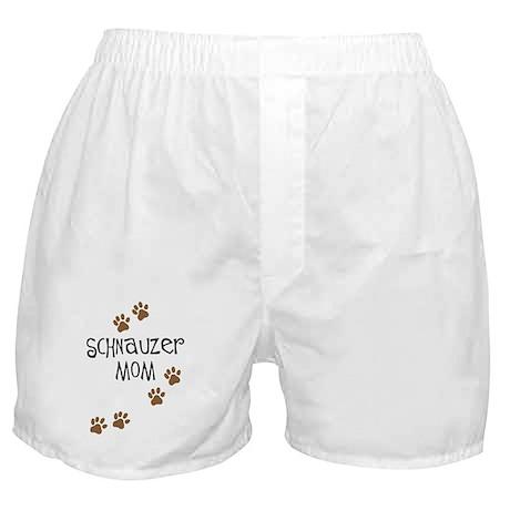 Paw Prints Schnauzer Mom Boxer Shorts