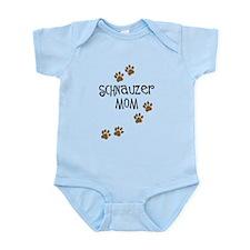 Paw Prints Schnauzer Mom Infant Bodysuit