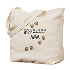 Paw Prints Schnauzer Mom Tote Bag