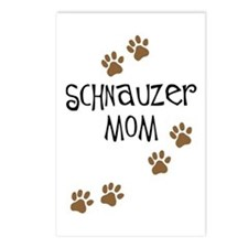 Paw Prints Schnauzer Mom Postcards (Package of 8)
