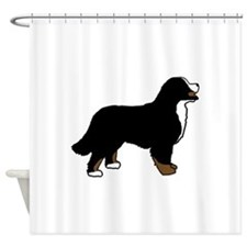 Tri Color Bernese Dog Shower Curtain