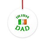 Father's Day Irish Dad Ornament (Round)