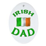 Father's Day Irish Dad Oval Ornament