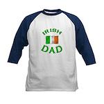 Father's Day Irish Dad Kids Baseball Jersey