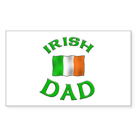 Father's Day Irish Dad Rectangle Sticker