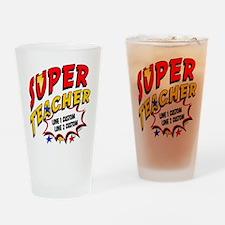 Teacher Super Hero Drinking Glass
