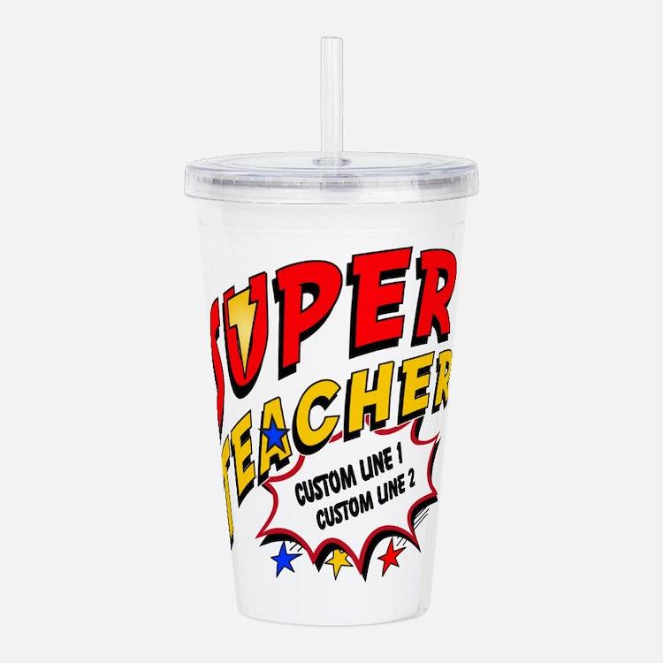 Teacher Super Hero Acrylic Double-Wall Tumbler