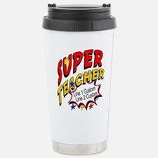Teacher Super Hero Stainless Steel Travel Mug