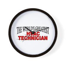 """The World's Greatest HVAC Technician"" Wall Clock"