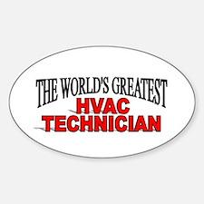 """The World's Greatest HVAC Technician"" Decal"