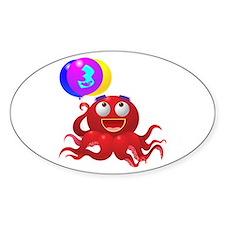 Octopus 3rd Birthday Decal