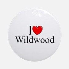 """I Love Wildwood"" Ornament (Round)"