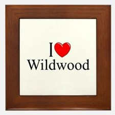 """I Love Wildwood"" Framed Tile"