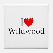 """I Love Wildwood"" Tile Coaster"