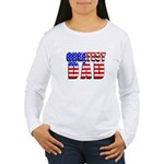 Patriotic Greatest Dad Women's Long Sleeve T-Shirt