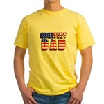 Patriotic Greatest Dad Yellow T-Shirt