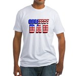 Patriotic Greatest Dad Fitted T-Shirt