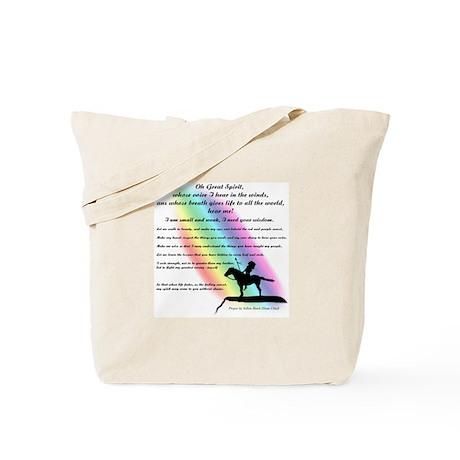 Native American Prayer Tote Bag