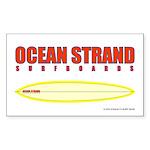 Ocean Strand Surfboards Rectangle Sticker