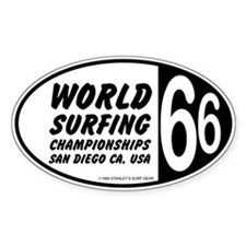 World Surfing Championship 66 Oval Decal