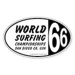 World Surfing Championship 66 Oval Sticker