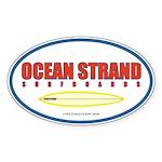 Ocean Strand Surfboards Oval Sticker