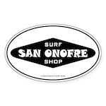 San Onofre Surf Shop Oval Sticker