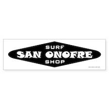 San Onofre Surf Shop Bumper Bumper Sticker