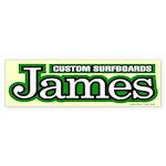 James Custom Surf Bumper Sticker