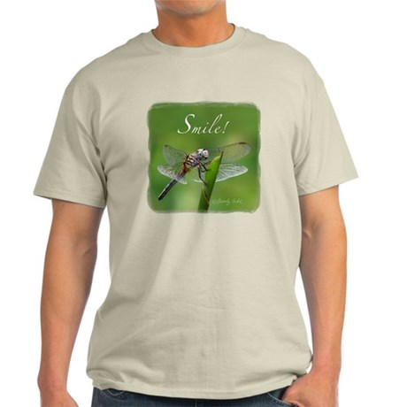 """Smile!"" Dragonfly-- Light T-Shirt"