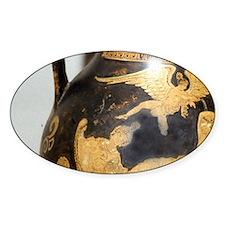 Eros above banqueter, Greek vase 37 Decal