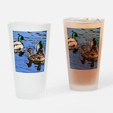 Mallards Drinking Glass