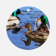 Mallards Round Ornament