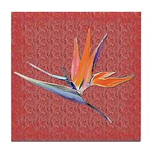Red Bird of Paradise Tile Coaster