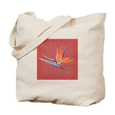 Pink Bird of Paradise Tote Bag