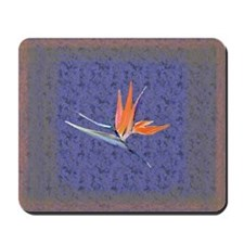 Blue Bird of Paradise Mousepad