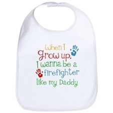 Firefighter Like My Daddy Bib