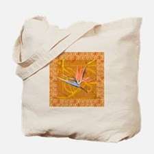 Gold Bird of Paradise Tote Bag
