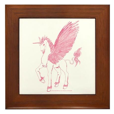 Rose Pink First Alicorn Framed Tile