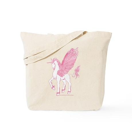 Rose Pink First Alicorn Tote Bag