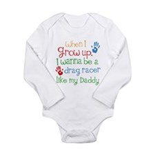 Future Drag Racer Long Sleeve Infant Bodysuit