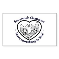 Savannah Chatters Sticker (Rect.)