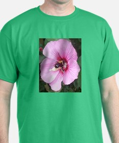 Busy Bee on Pink T-Shirt
