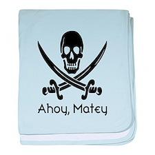 Cute Ahoy matey baby blanket