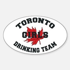 Toronto Girls Drinking Team Oval Decal