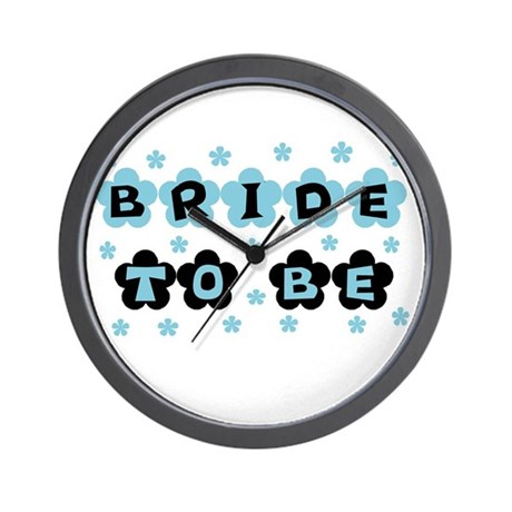 Blue Bride to Be Wall Clock